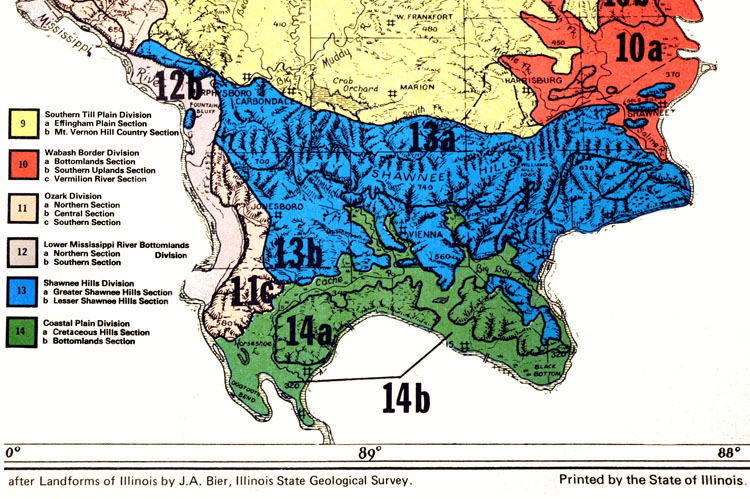 Map By J A Bier Illinois Geological Survey